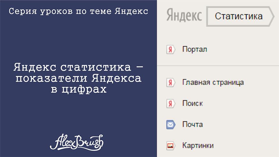Яндекс статистика. Показатели сервисов Яндекс