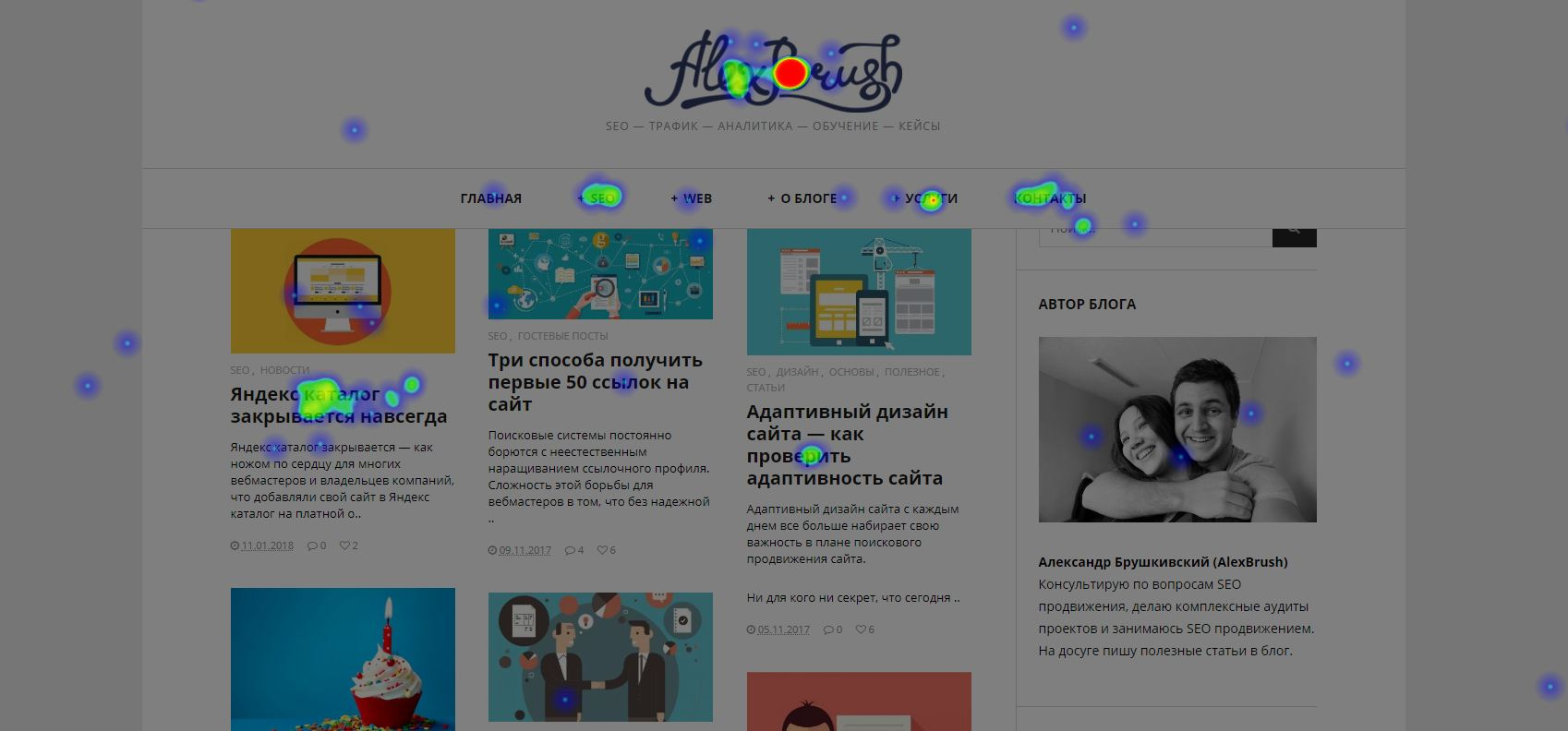 Карты в Яндекс метрика - клики, ссылки, скроллинг