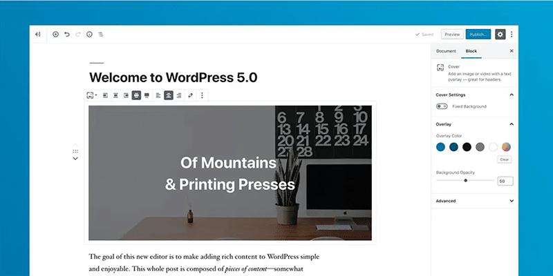 WordPress 5.0 и Gutenberg editor — что нового в обновлении